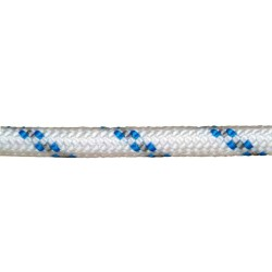 Cuerda Poliester Trenzada Blanco / Azul 12 mm. Bobina 100 m.