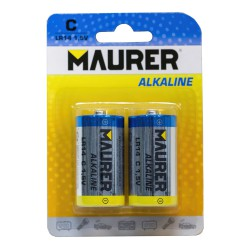 Pila Maurer Alcalina C / LR14 (Blister 2 piezas)