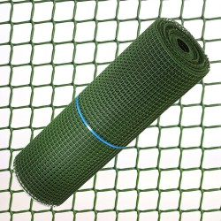 Tela Cuadrada Plastico 1,0 cm. x 1 Metro. Verde Rollo 25 Metros