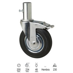 Rueda Industrial Andamio (Hembra) 200 mm.
