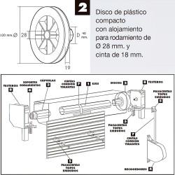 Rueda Industrial Goma Gris Pasante con freno100 mm.