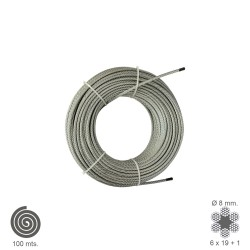 Cable Galvanizado 8 mm. (Rollo 100 Metros) No Elevacion