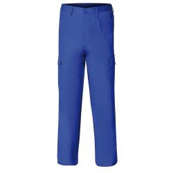 Pantalon De Trabajo Largo, Color Azul, Multibolsillos, Resistente, Talla 54