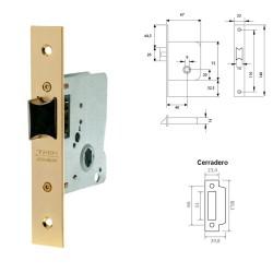 """Letra Latón """"I"""" 10 cm. con Tornilleria Oculta (Blister 1 Pieza)"""